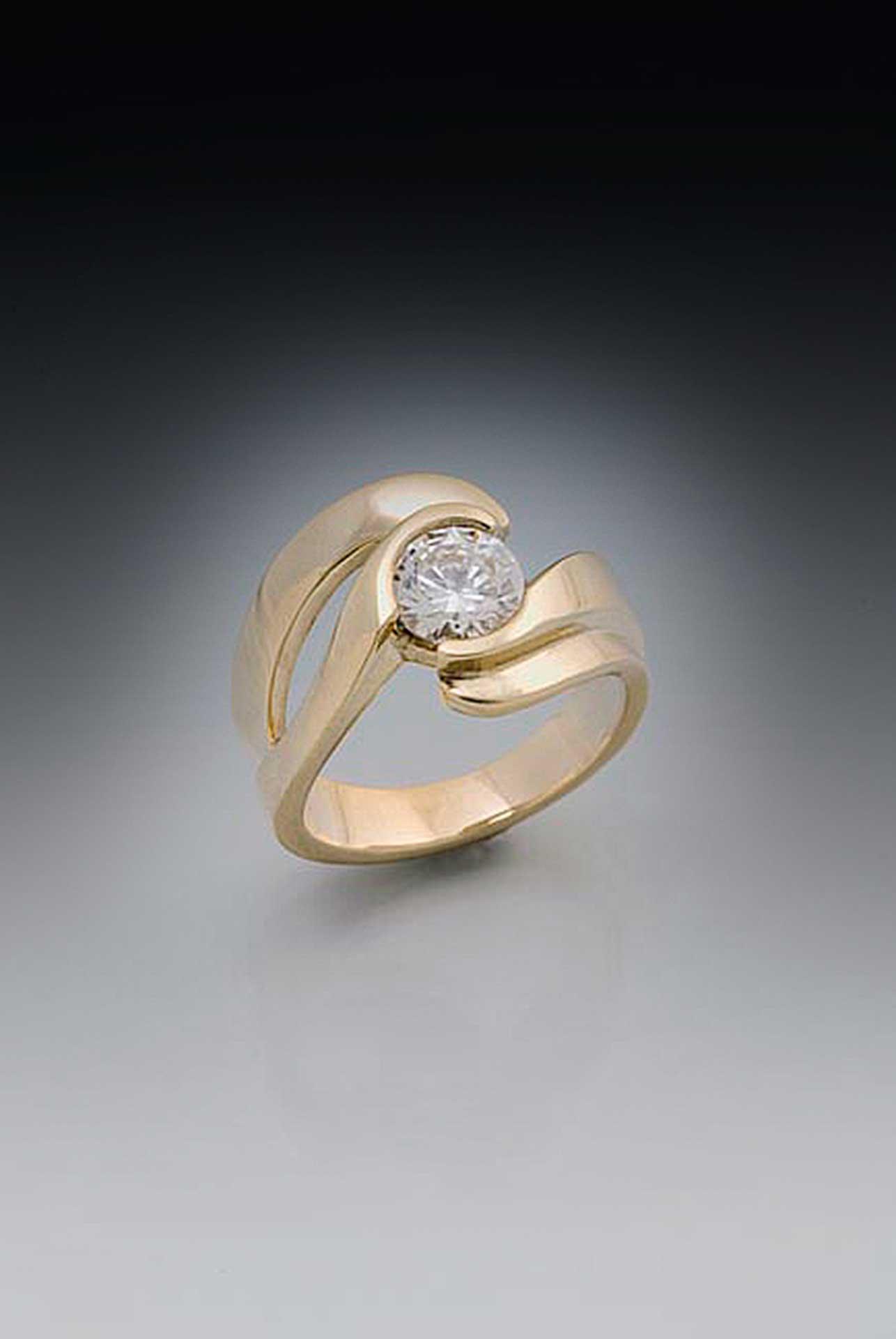 Eternity Double Edge Swirl Large Diamond Rings Unique