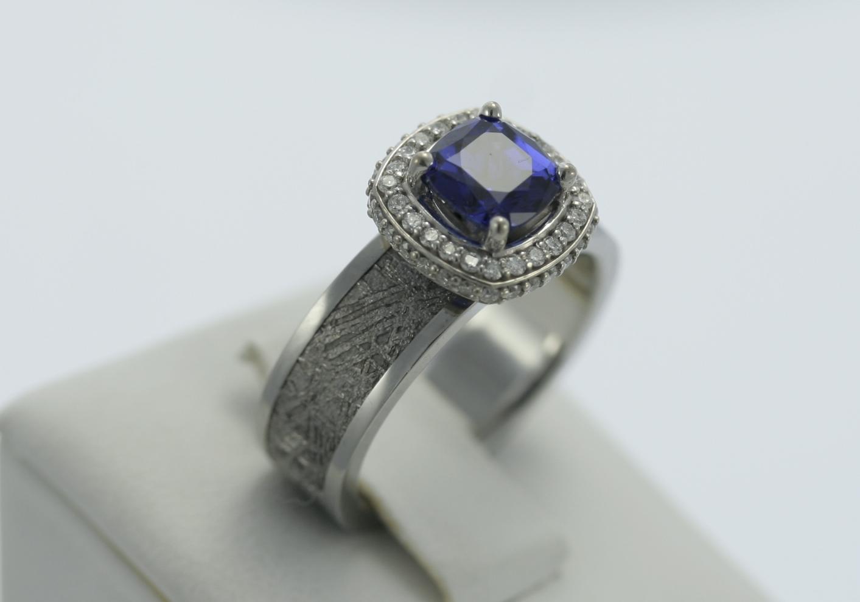 meteorite sapphire engagement rings unique