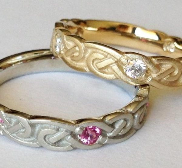artistic infinity wedding rings narrow - Infinity Wedding Rings