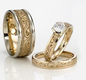 unique wedding rings women men couples