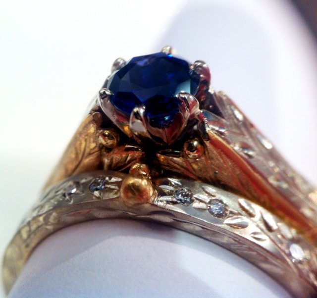 Masterpiece with Sapphire and Diamonds