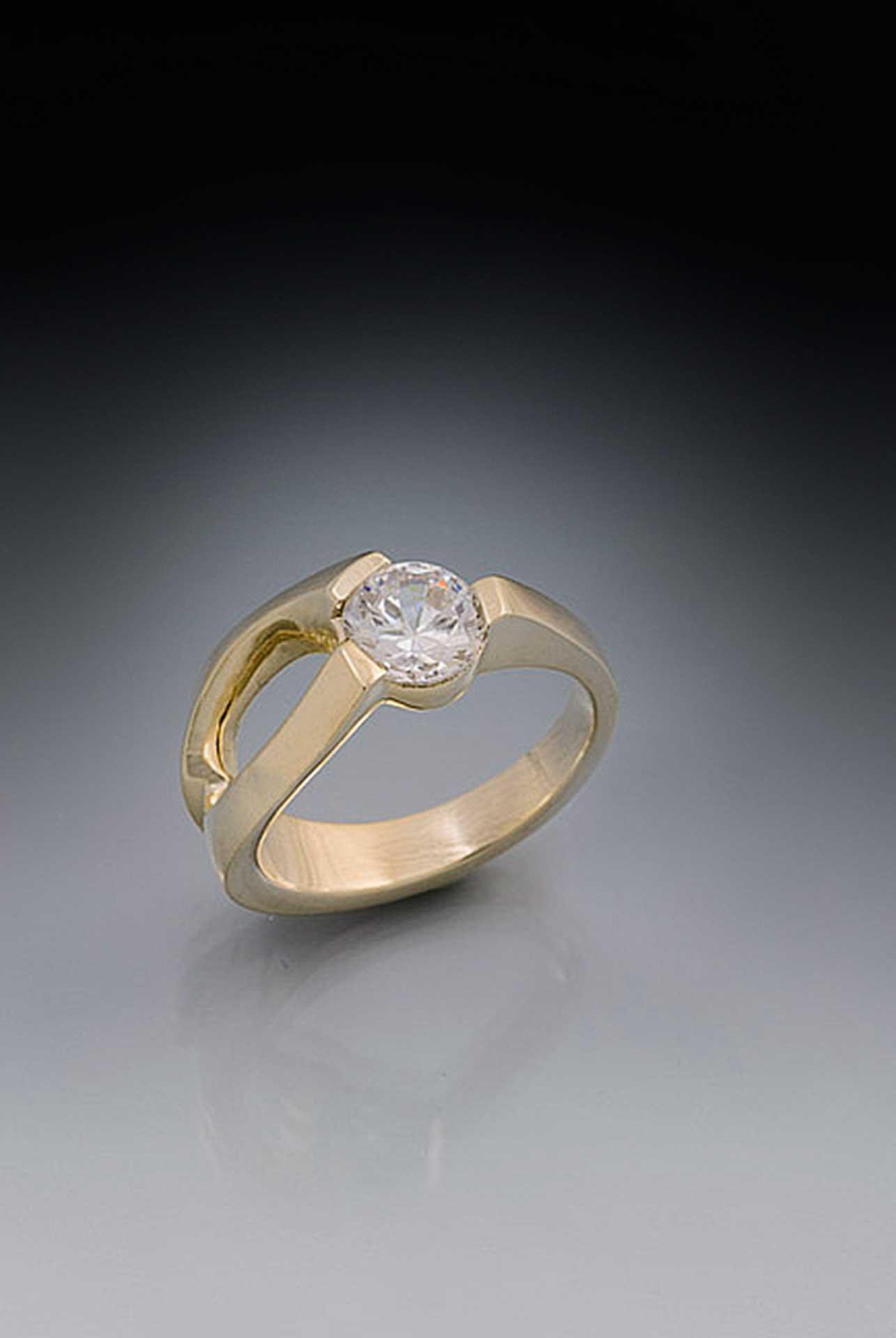 Eternity Triple Crown Large Diamond Rings Unique