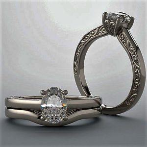 Lavish Engagement Oval Diamond Art Deco
